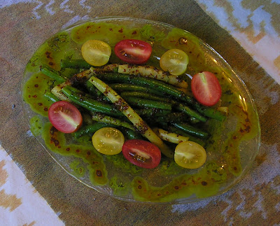 Green & Wax Beans in Honey-Mustard Dressing