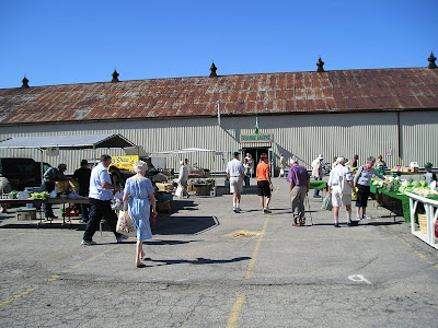 The main building of the Stratford Farmers Market