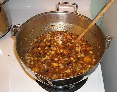 The Chutney iIngredients in the Pot