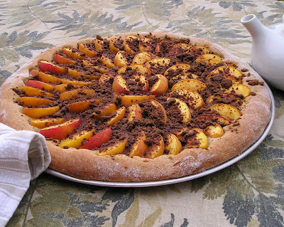 Peach Pizza made with Basic Sweet Roll Dough