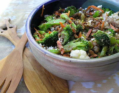 Broccoli Cauliflower and Lentil Salad