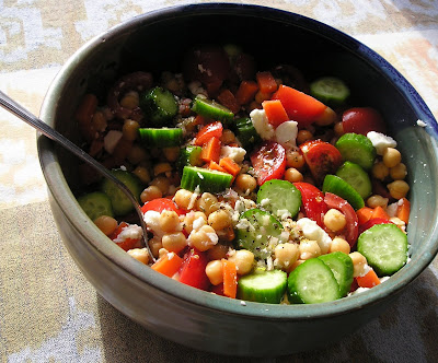 Chick Pea, Tomato and Cucumber Salad