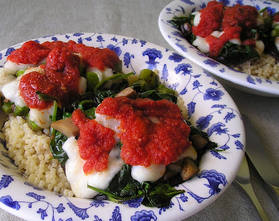 Portobellow Mushrooms Stuffed with Goat Cheese and Asparagus (or Spinach)