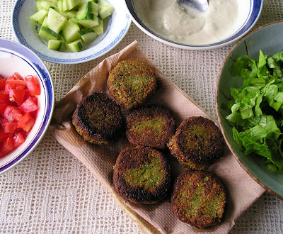 Falafel Patties with Tahini Sauce