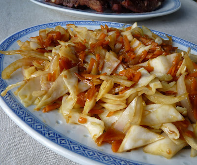 Stir Fried Cabbage and Carrots