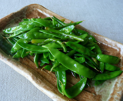 Snow Peas and Garlic Scapes