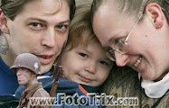 Anti-Semite, offal, putz,  Heath Campbell - left, with his wife Deborah and son Adolph Hitler, 3.