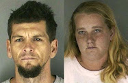 faces of evil: Jesse Edward Laramee, left, and Jane Marie Marcy