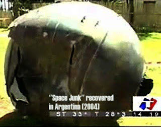Space Junk Recovered in Argentina 2004