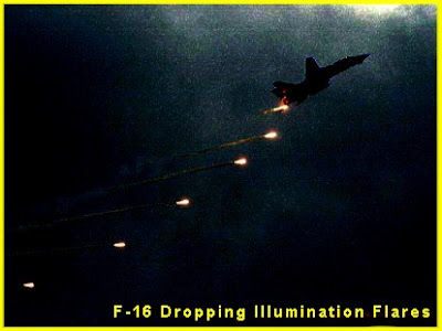 F-16 Dropping Flares