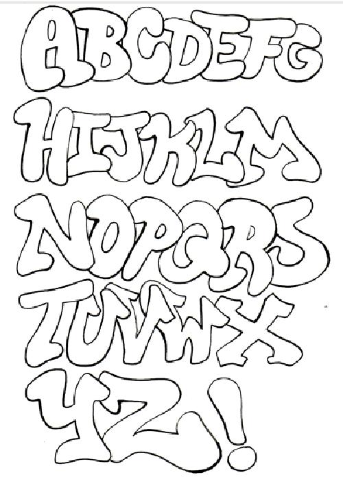 graffiti alphabet throwie