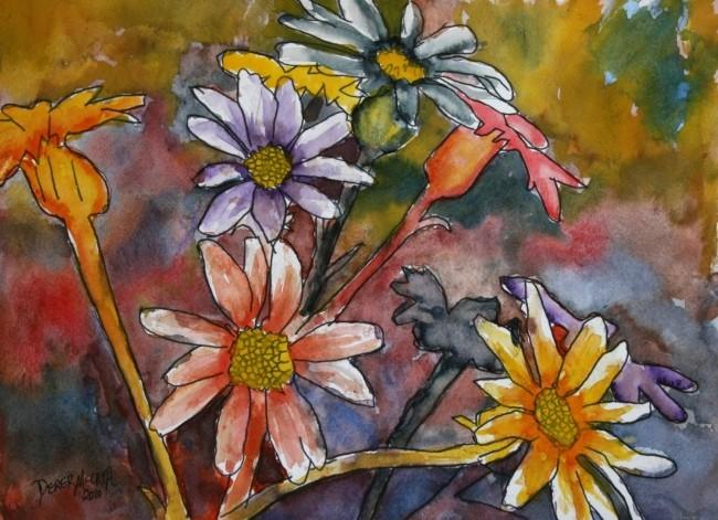 Watercolor Paintings - Art by Derek McCrea: abstract ...