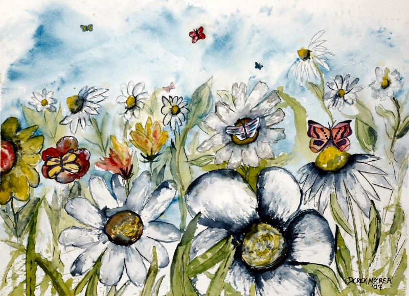 Watercolor Paintings - Art by Derek McCrea: Butterflies ...