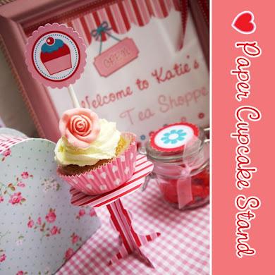 DIY Easy Paper Cupcake Stands Tutorial