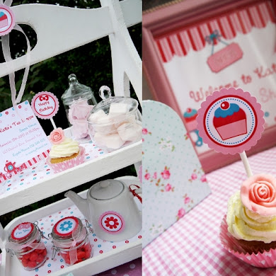 Pink and Aqua Tea Party Ideas & Printables