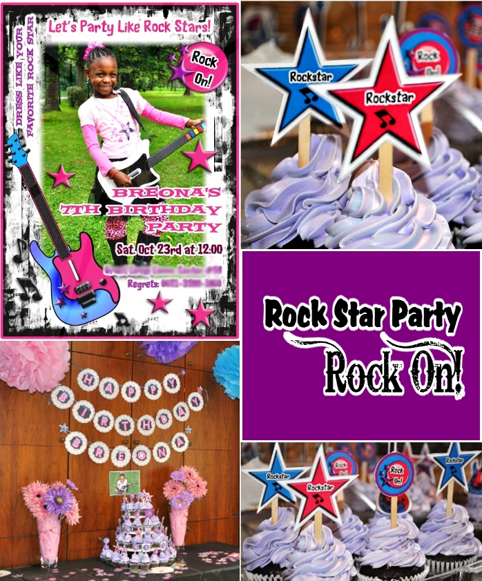 A Pink & Purple Rock Star Glam Birthday Party