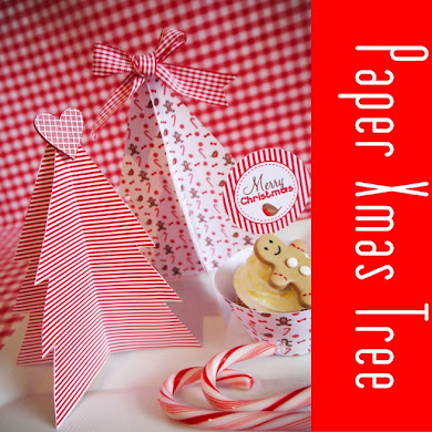 DIY Easy Paper Christmas Tree Decorations
