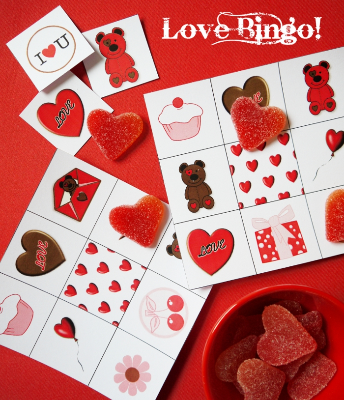 FREE Printables Valentine's Day Bingo - BirdsParty.com