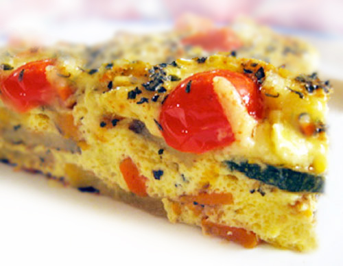 Gluten free quiche without crust is delicious