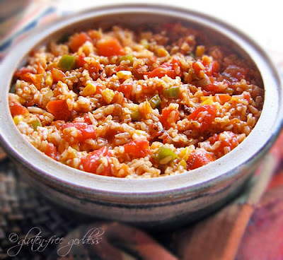 Gluten free Spanish rice recipe is easy and delicious