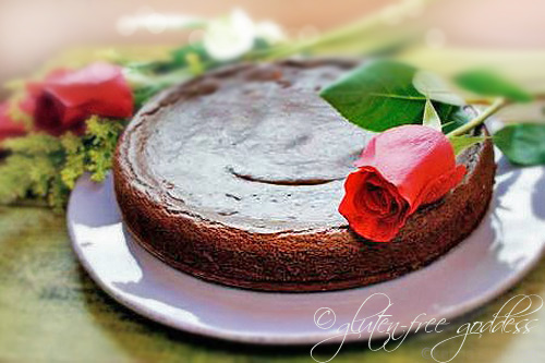 Vegan chocolate cake flourless style