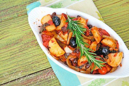 Easy gluten free roasted potato recipe Sicilian style