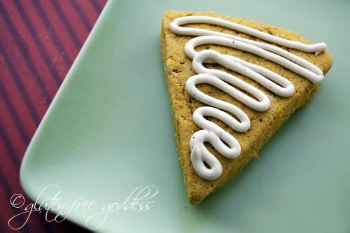 Pumpkin scones that remind me of Starbucks- without the gluten