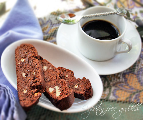 Gluten-Free Goddess® Recipes: Gluten-Free Chocolate Biscotti