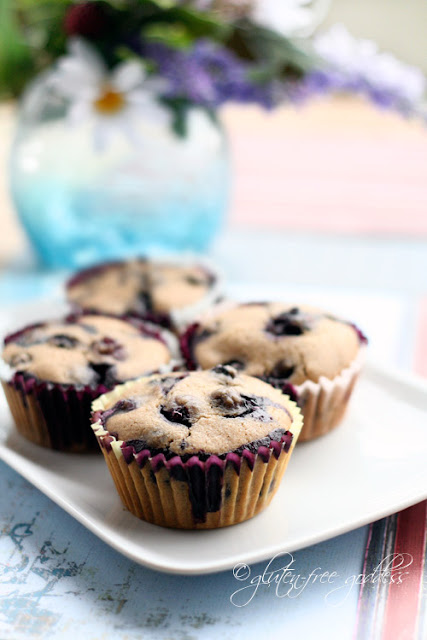 Gluten-Free Blueberry Muffins with Almond Flour