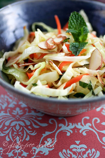 Warm winter coleslaw with chili lime dressing