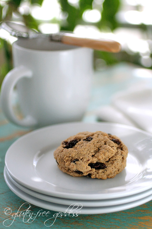 Gluten free cinnamon raisin scones are lovely with tea