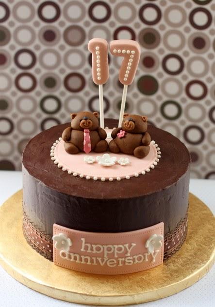 simply cake 17th Anniversary Cake
