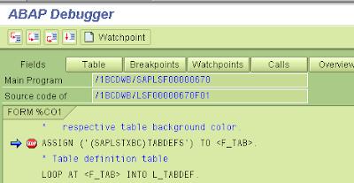Smartforms: Breakpoints - ABAP Help Blog