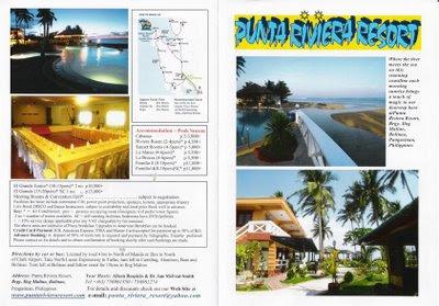 TRAVEL CENTRAL PHILIPPINES: Brochure - Punta Riviera ...