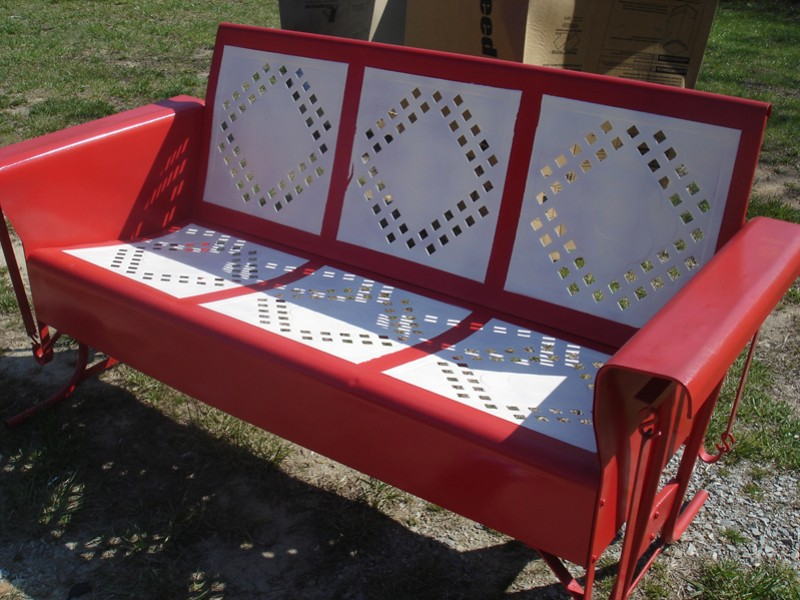 two seater lawn chair red banquet covers teapots and polka dots: houses in my neighborhood: the front porch