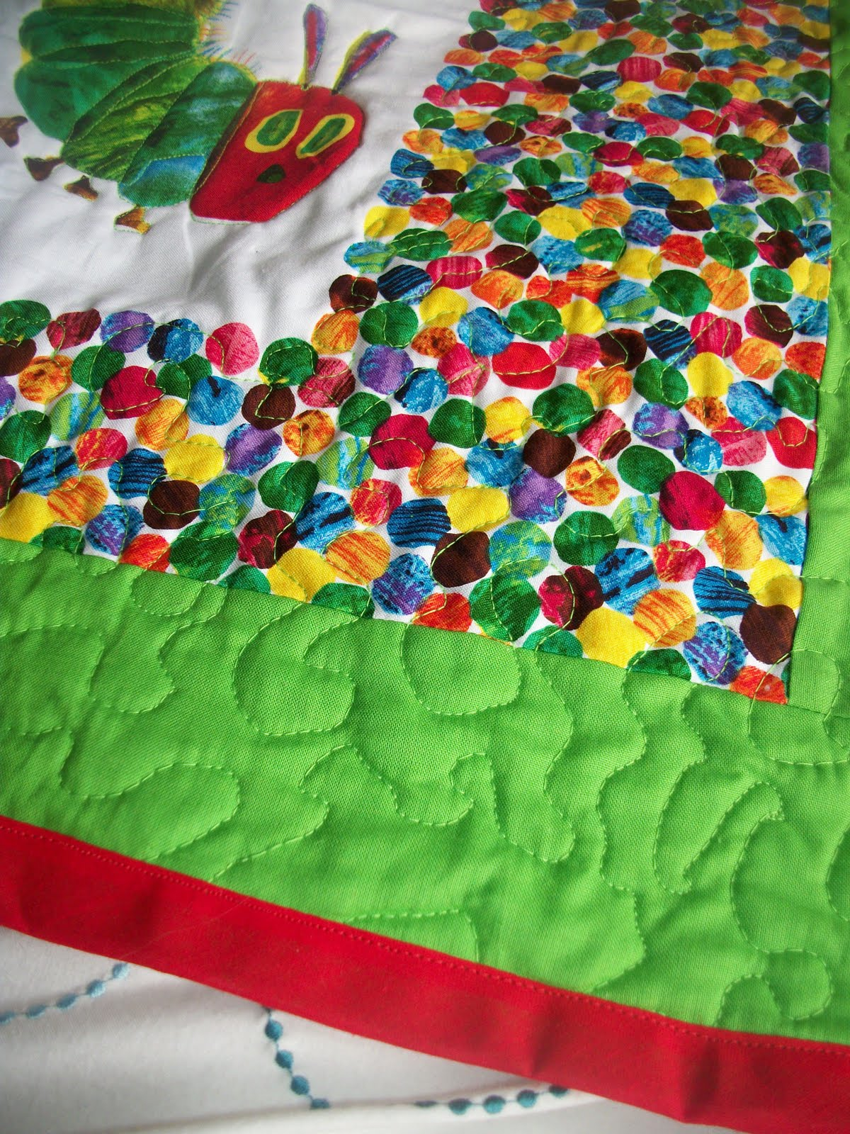The Life Of A Fruit Cake 1st Very Hungry Caterpillar Quilt