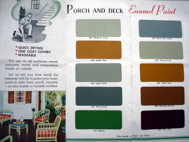 The Box House Original 1930s Paint Palette 1 Of 3 Porch