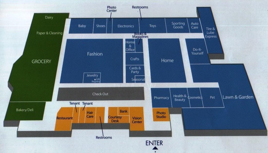 walmart store layout