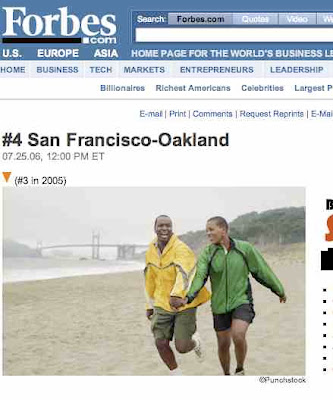 Oakland - OK, San Francisco & Oakland - 4th Best Place In USA For Singles