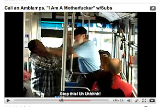 AC Transit Bus Fight near Lake Merritt, Oakland, on YouTube video