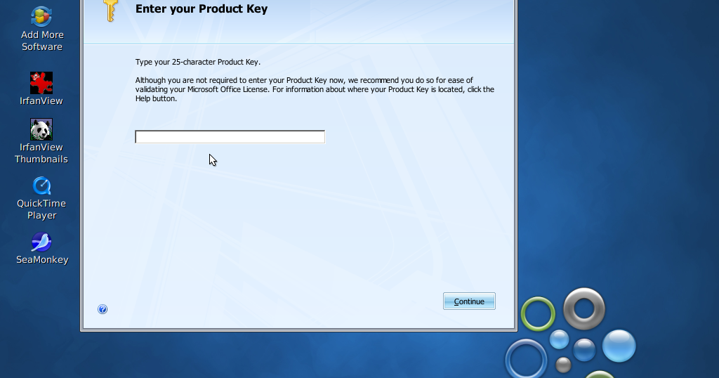 how to enter office 2007 product key after installation