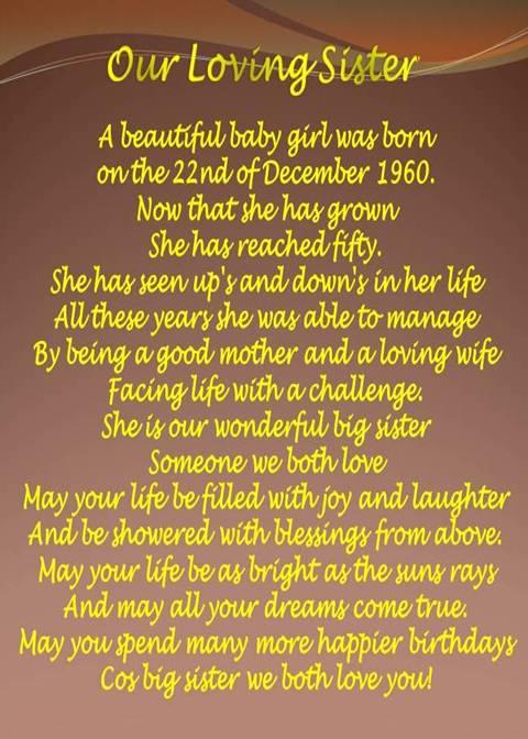 little sister birthday poems - photo #5