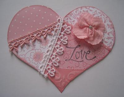 Sending Hugs: Crazy Quilt and Blue Flourishes Valentines : how to make crazy quilt - Adamdwight.com