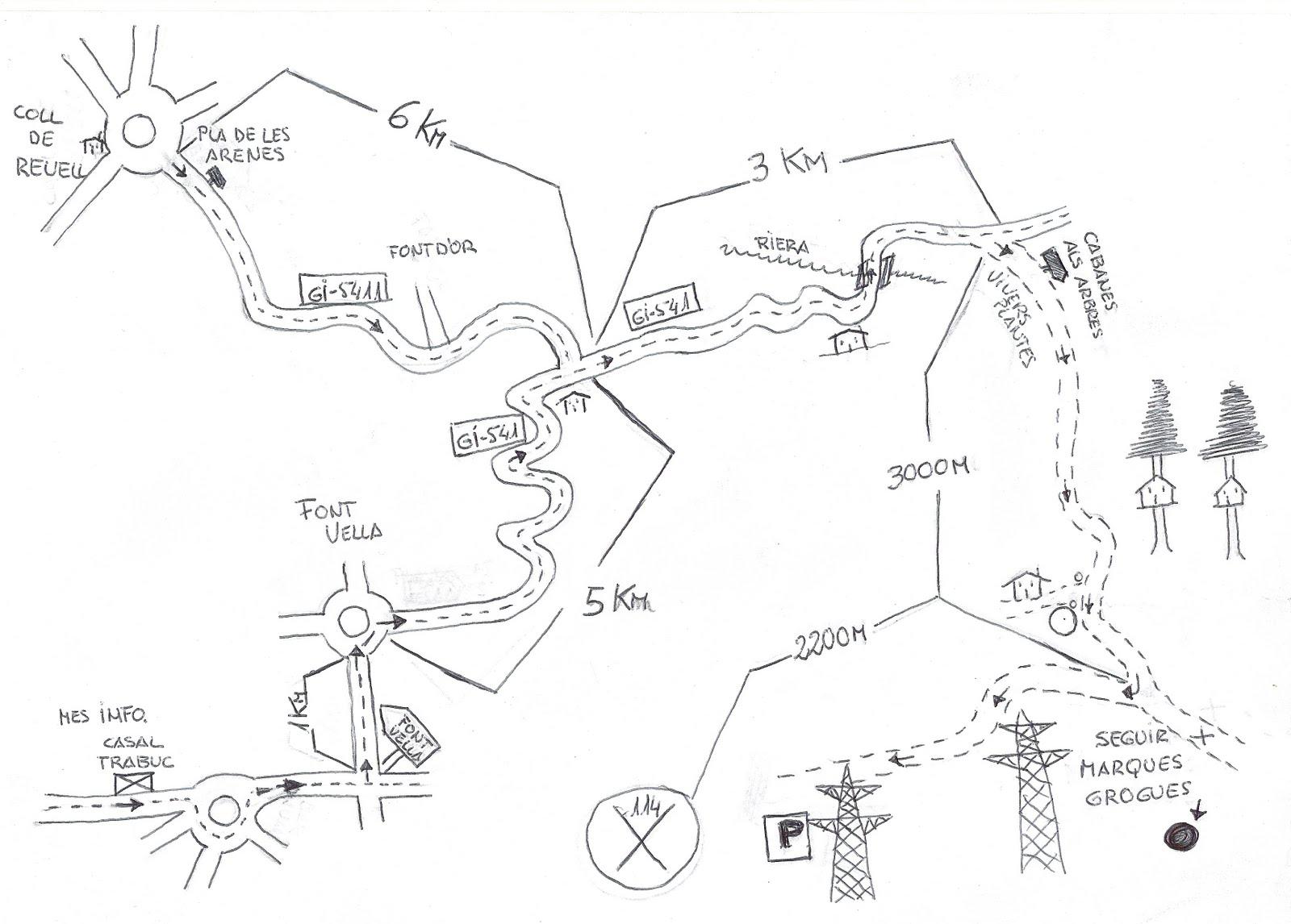 Sant Hilari Sacalm Mapa.Des Dels Boscos 22 11 09 29 11 09