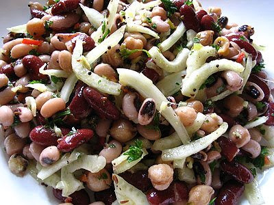 Three-Bean Salad with Fennel