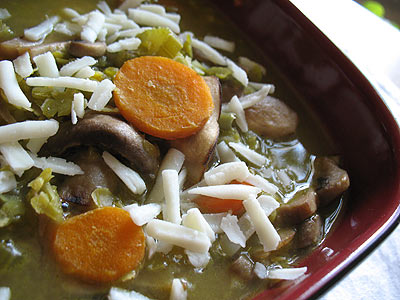 Split Pea and Mushroom Soup