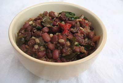 Mustard Roasted Adzuki Beans with Urad Dal