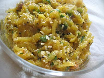 Shredded Mango and Coconut Chutney
