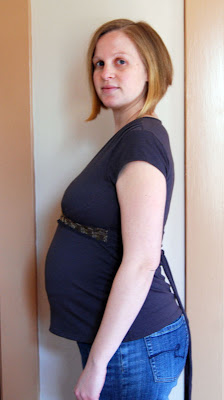 Stand and Deliver: Belly shot: 31 weeks pregnant