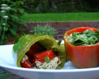 Peppers Stuffed with Fresh Tomatoes & Basil
